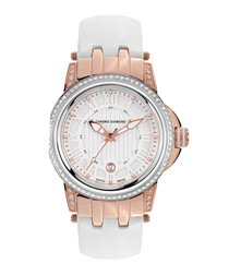 Dionne white & rose gold-tone watch