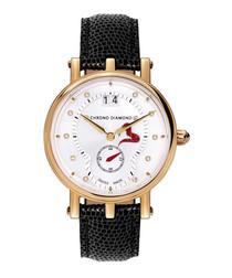 Ariadne gold-tone & leather watch