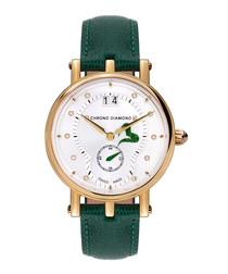 Ariadne green & gold-tone steel watch