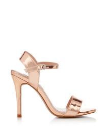 Imogen rose gold strappy sandals