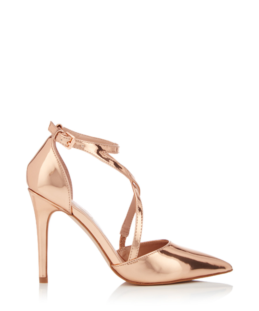 Shelby bronze strappy stiletto heels Sale - Miss KG