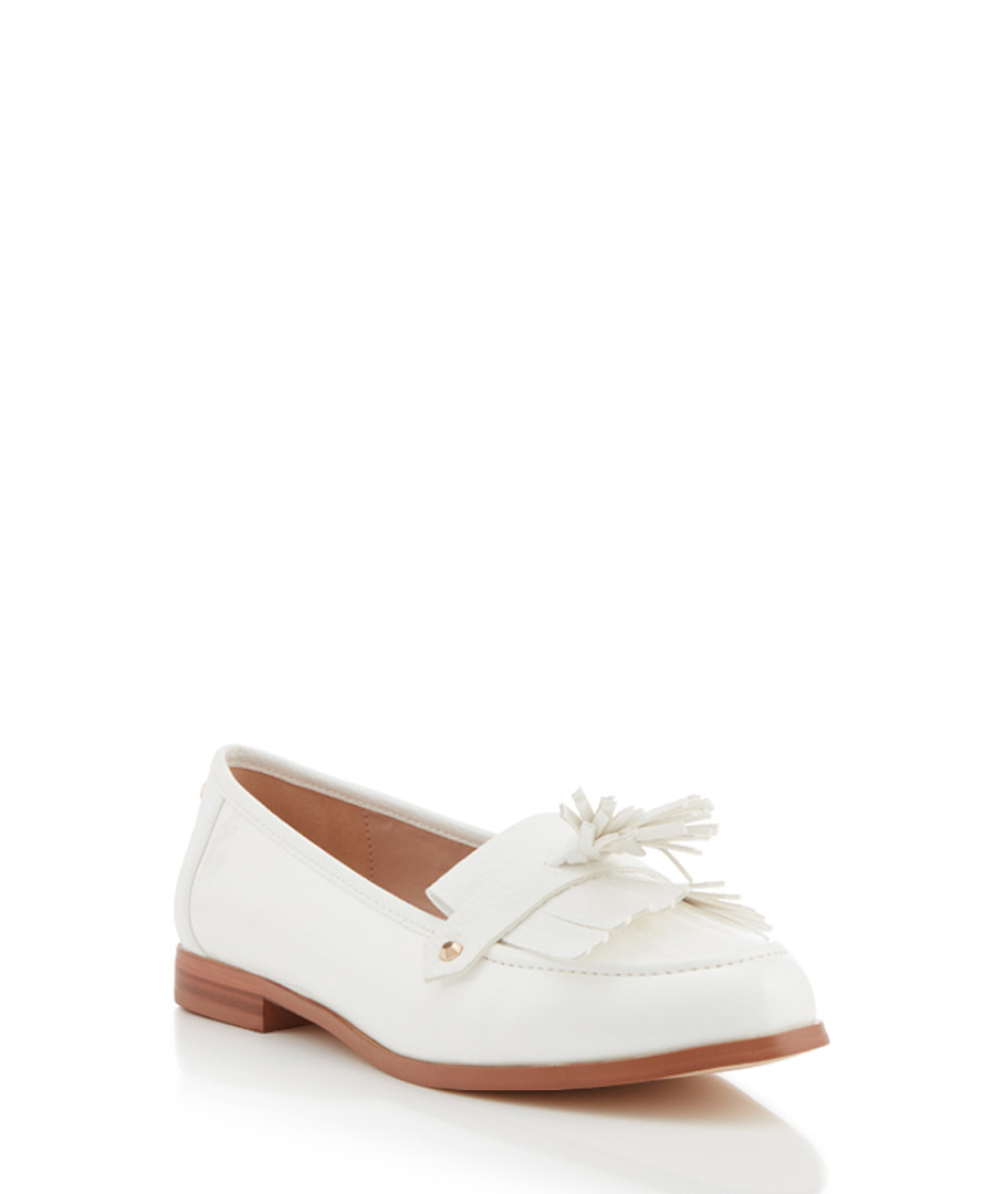 top-rated professional good reputation extremely unique Discount Magpie white leather tassel loafers | SECRETSALES