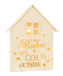 White wooden baby its cold outside sign
