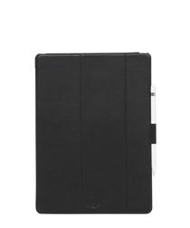 Black iPad Pro tri fold folio case