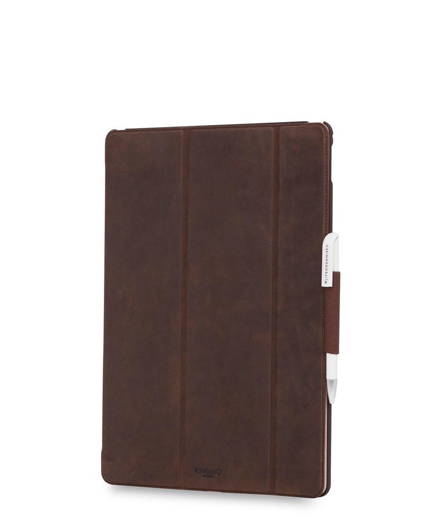 Brown iPad Pro Tri fold folio case Sale - knomo