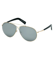 Eva gold-tone aviator sunglasses