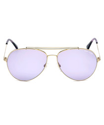 Indiana purple & gold-tone sunglasses