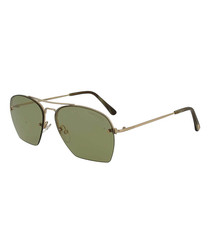 Whelen rose gold-tone aviator sunglasses