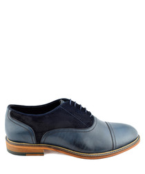 Ryder navy leather Oxford shoes