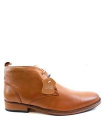 Kingston tan leather desert boots