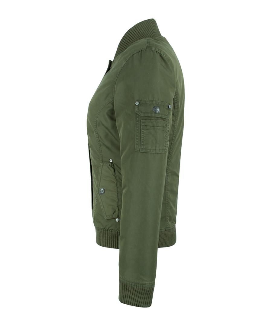 Stud Zipper Olive JacketSecretsales Discount Military QCxrhsdt