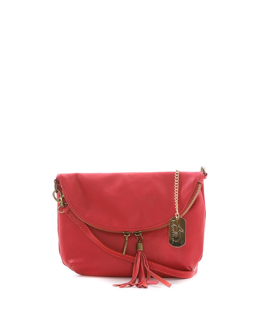 Red leather tassel crossbody Sale - anna morellini