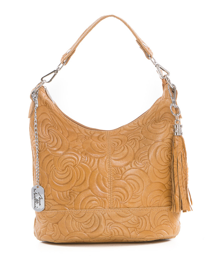 Tan leather swirl shoulder bag Sale - anna morellini