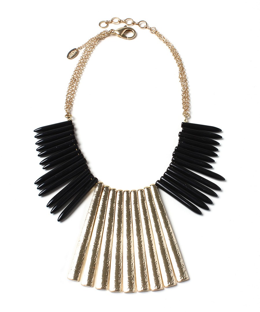 Merissa Spike black & gold-tone necklace Sale - amrita singh