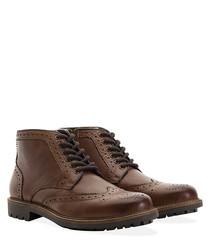 Hans tan leather lace up shoes