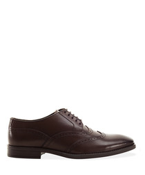 Arthur brown leather brogue shoes