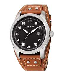 Tan leather rivet watch