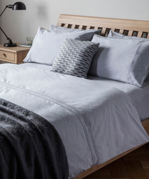 Kintyre grey cotton single duvet set