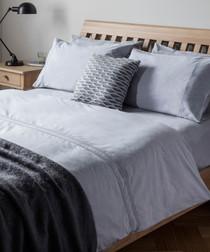 Kintyre grey cotton single duvet set