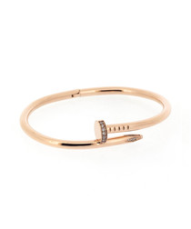 18ct rose gold-plated steel nail bangle