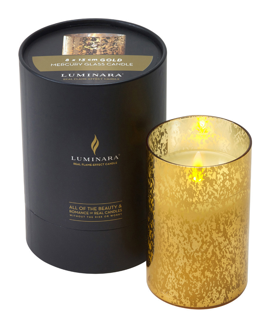 Gold-tone flameless candle 13cm Sale - luminara