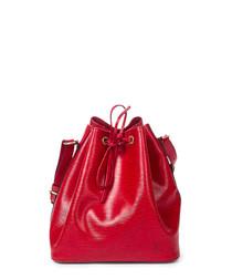Noé PM red Epi leather shoulder bag