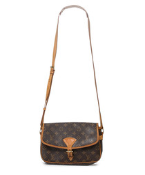 Sologne brown canvas monogram cross body