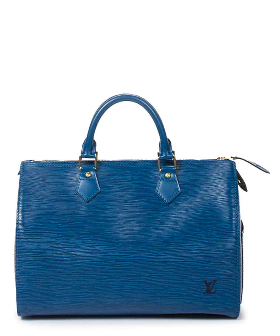 96b4ad61292b ... Speedy 25 blue Epi leather grab bag Sale - Vintage Louis Vuitton ...