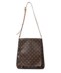 Musette brown canvas monogram bag