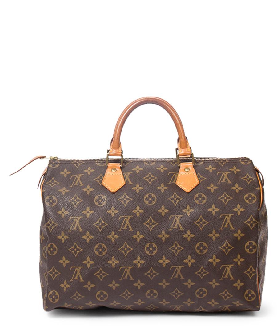 Speedy 35 brown canvas grab bag Sale - vintage louis vuitton