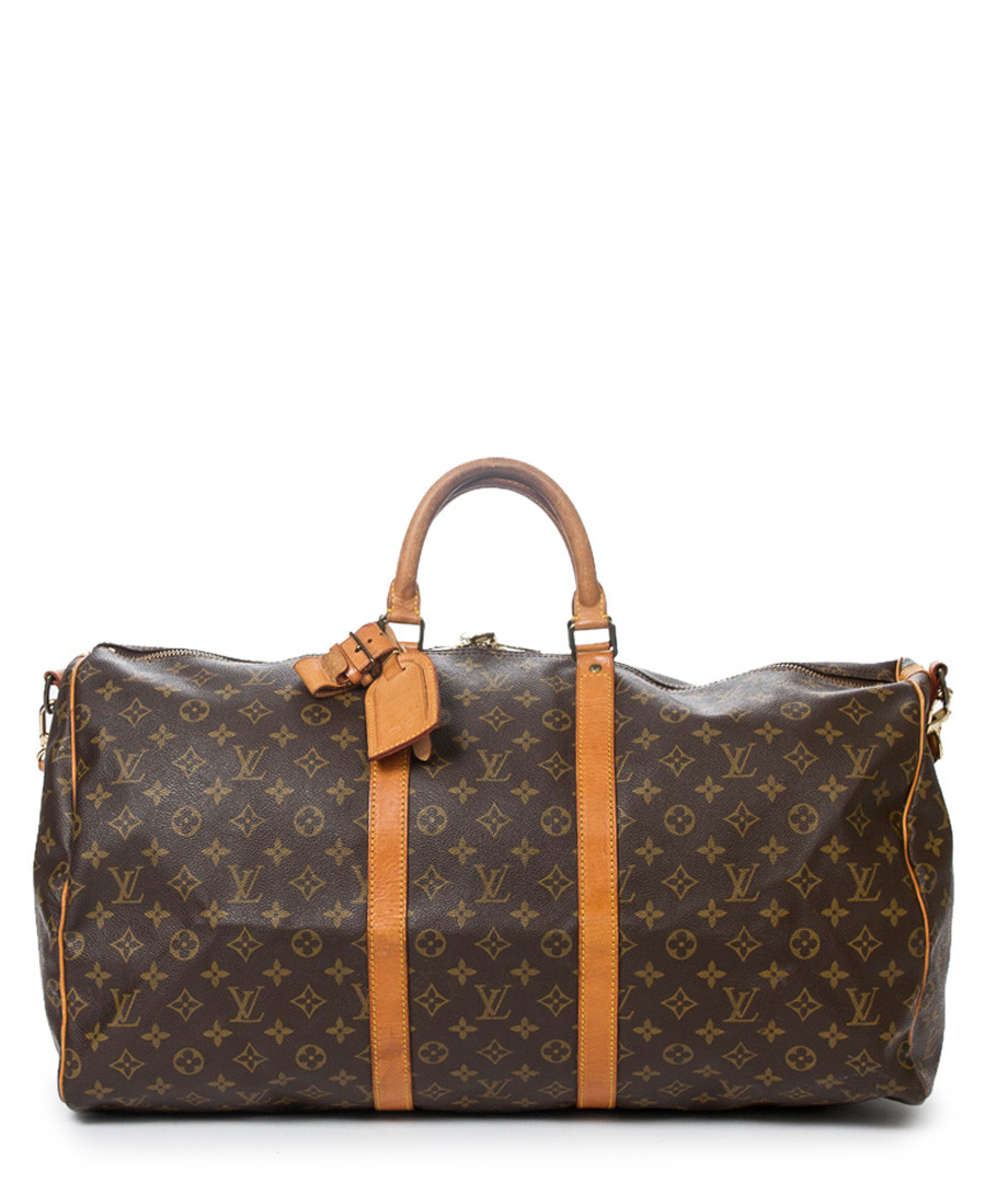 Keepall Bandouliere 55 brown holdall Sale - vintage louis vuitton
