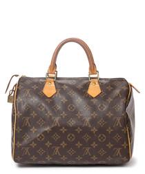 Speedy 30 brown canvas monogram bag