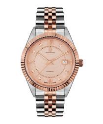 Beaute de Suisse rose gold-tone watch