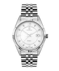Beaute de Suisse silver-tone steel watch