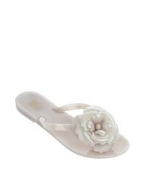 Girl's Harmonic Flower 17 pale pink flip flops