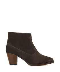 Sorority smoky suede ankle boots