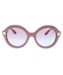 Light brown stud rounded sunglasses