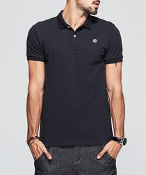 Navy pure cotton polo shirt