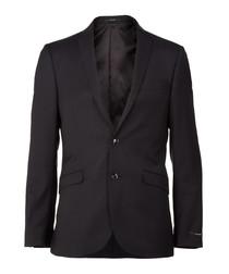 Harrie black pure wool blazer