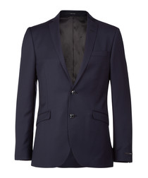 Harrie navy pure wool blazer