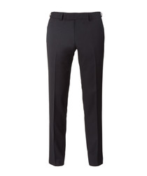 Main black pure wool trousers