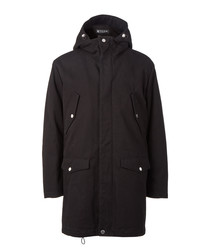 Timid black pure cotton parka