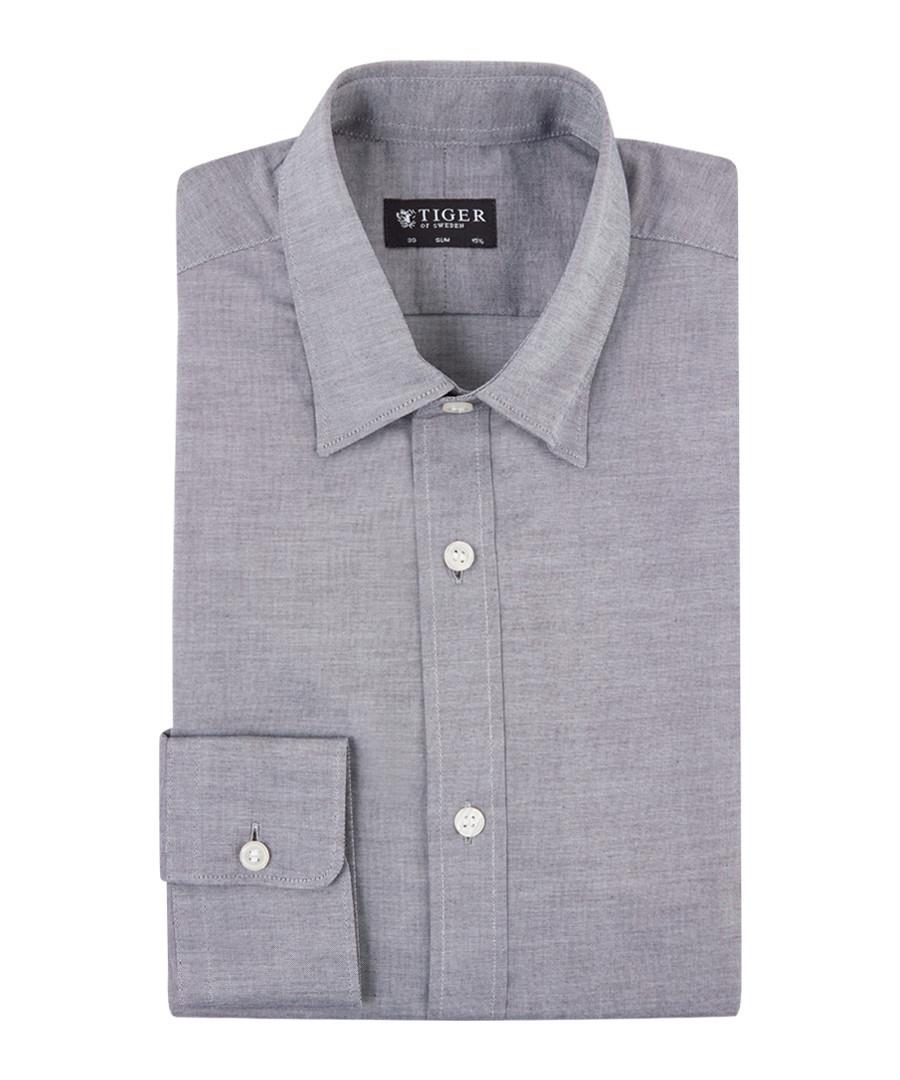 Donald charcoal pure cotton shirt Sale - Tiger Man