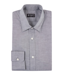 Donald charcoal pure cotton shirt
