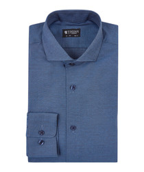 Farrell indigo pure cotton shirt