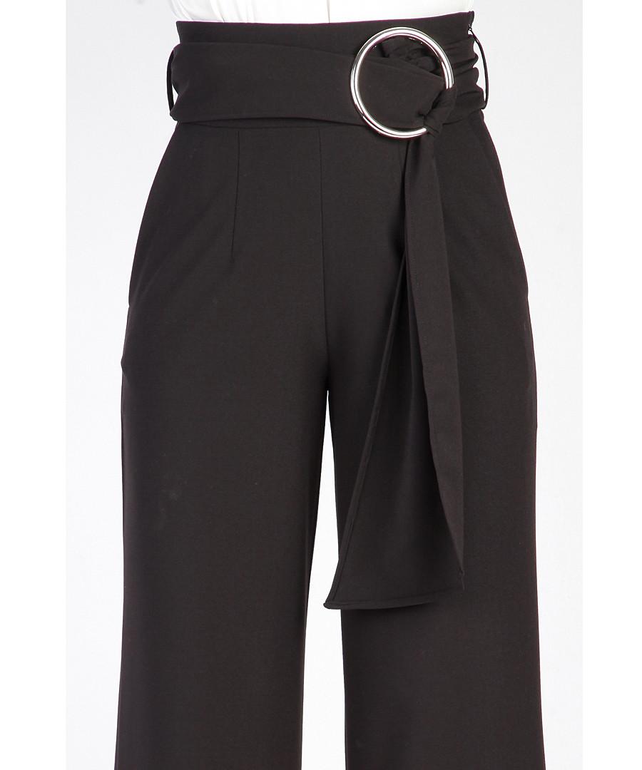 Black high waist wide leg trousers Sale - Carla by Rozarancio ... 7571f7960