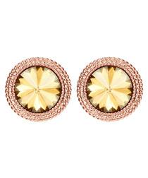 Rose gold-plated Swarovski crystal studs
