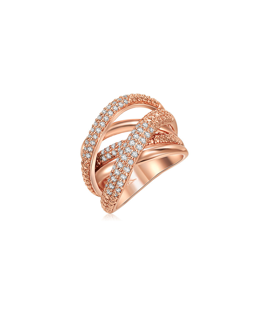 Rose gold-plated brass wrap ring Sale - tassioni