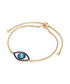 Yellow gold-plated & blue eye bracelet Sale - tassioni Sale