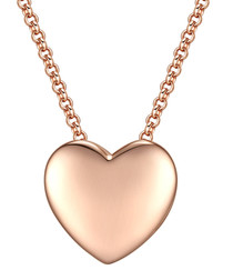 Rose gold-plated heart pendant necklace